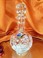 Crystal Glass  Decanter 12 oz Vodka Cognac Carafe NEMAN Russian Cut Vintage
