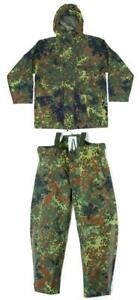 Bundeswehr Regenjacke Regenhose Goretex flecktarn Nässeschutz Anzug Outdoor TOP