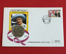 ISLE OF MAN 1995 QUEEN MOTHER 95th BIRTHDAY PROOFLIKE CROWN - coin cover