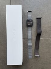 Apple Watch Series 4 44mm Space Grey with Black Sport Loop & White Sport Band