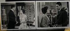 "2 VINTAGE 8""X10"" ORIGINAL PHOTO RHAPSODY ELIZABETH TAYLOR JOHN ERICSON LOVE TALK"