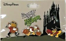 Disney Tower Of Terror Donald & Goofy & Pluto Dressed As Bellhop 3 Pin Set NEW