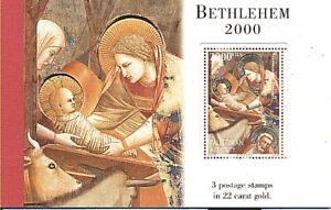 PALESTINIAN AUTHORITY 2000 BETLEHEM 22K GOLD BKLT MNH