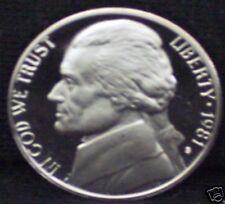 1981-S Proof Jefferson Nickel - Type 1- Deep Cameo!