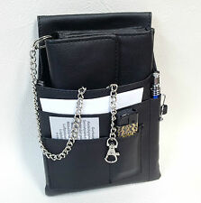 3 PC Set Waiter Wallet+Holster+Chain Waiter's Money Pouch Purse Black