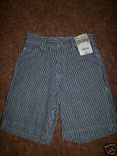 NWT New JCP ARIZONA Carpenter Denim Blue White Stripes Jean Boys Shorts 6