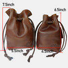 Quality Cowhide Leather Ammo Pouch Drawstring Pouch Gun Ammo Belt Bag Hunting