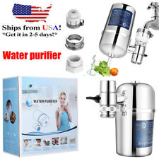 Water Faucet Filter Kitchen Sink Bathroom Mount Filtration Tap Purifier System