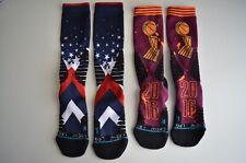 2 Men's Stance Basketball Performance Adidas Uprising Crew Socks Sz. Large, 9-12