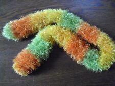 Schal gelb/orange/grün ca. 1,08m 7cm breit rund gestrickt....HANDMADE!!!