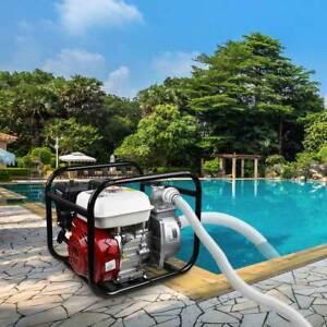 "Gas Power Water Transfer Pump 6.5HP 2"" High Pressure Petrol Irrigation 4 Stroke"