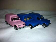 Lot de 3 RENAULT R4 fourgonnette Jet Car 1/43 métal 2 bleues et 1 rose
