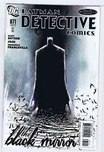 BATMAN DETECTIVE COMICS 871 9.0 1ST JAMES GORDON JR BLACK MIRROR CC