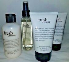 New Sealed Philosophy Fresh Cream Body Spritz Polishing Scrub Lotion Shower Gel