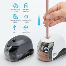 Automatic Electric Battery Operated Pencil Sharpener USB Home Desk School Office