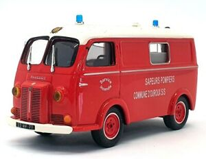 Altaya 1/43 Scale AF7621 - Renault D3A Fire Truck Van Pompiers - Red/White