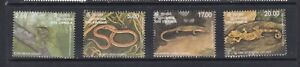 SRI LANKA1997 REPTILES MNH SET OF STAMPS
