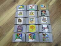 Nintendo 64 Lot of 15 Piece Legend of Zelda Super Mario Japan B855