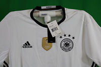 AA0147 Adidas Germany Home White Long Sleeve Soccer Jersey Men's Size: S $100.00