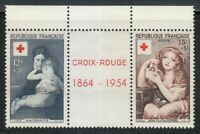 France 1954 MNH Mi 1032-1033 Sc B291-292 Art by Eugene Carriere & Jean Greuze **