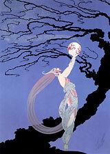 Fireflies 22x30 Art Deco Print by Erte