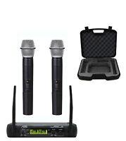 Audio2000's 6074U UHF 2 Channel Karaoke Wireless Microphone System w/ Carry Case