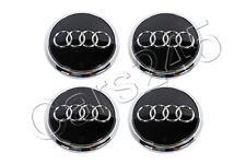 Genuine Alloy Wheel Center Hub Black Glossy Caps 4pcs AUDI Q7 2010-2013 Facelift