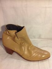 Pierre Cardin Beige Ankle Leather Boots Size 8