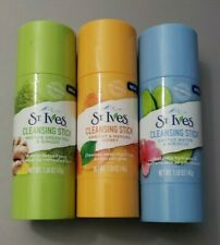 3 St. Ives Cleansing Stick, Cactus Water & Hibiscus; Apricot & Honey; Green Tea