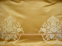 Loris Zanca Yellow Gold Floral Medallion French Damask Upholstery Fabric