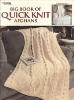 Quick Knit Afghans Big Book Leisure Arts 3137 Traditional Comfy 24 Designs 1999
