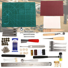 61PCS Leather Craft Working Tools Kit Hand Sewing Supplies Stitching Craft STOCK