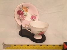 Vintage Royal Standard Bone China Cup & Saucer, Harmony, Blush Pink Color