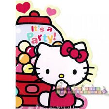 HELLO KITTY Sweet Gumdrop INVITES & THANK YOU NOTES (8ct ea.) ~Party Supplies