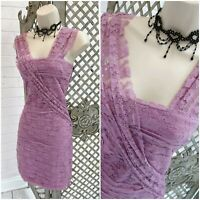 TOPSHOP DRESS UP UK 10 BNWT £65 Lilac Purple Lace Layered Bodycon Mini Dress