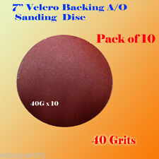 "10x 7"" 40 Grit Sanding Disc Paper Hook and Loop Backing Sander Abrasive Air"