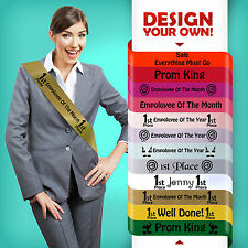 EMPLOYEE OF THE MONTH YEAR QUARTER SASH SASHES PERSONALISED
