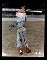 Stan Musial PSA DNA Coa Hand Signed 8x10 Cardinals Photo Autograph