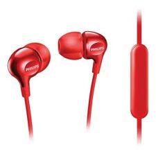 PHILIPS HEADSET ORIGINAL EARPHONES SHE3705 RED FOR HUAWEI P20 LITE