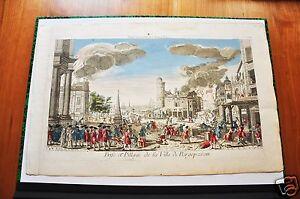 HOLLANDE.PRISE ET PILLAGE DE LA VILLE DE BERGOP (VUE D'OPTIQUE FIN XVIIIéme).
