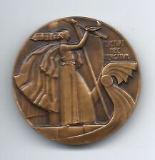 Art Deco city of Paris on galley FLVCTVAT NEC MERGITVR medal by Paul M. DAMM M46