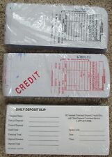3 Part Imprint Long Credit Card Sales and Credit Slips 100 Packs + Deposit Slips