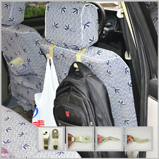 2x Durable Beige Car Auto Seat Headrest Hangers Bag Double Hook hanger holder