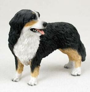 BERNESE MOUNTAIN DOG Figurine Statue Hand Painted Resin Gift Pet Lovers