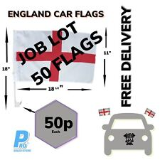 More details for 50 x england car flags world cup euros window door st george flag joblot