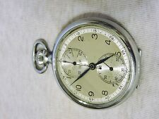 VINTAGE HEUER & CO SWITZERLAND MILITARY 1930'S TWIN UP & DOWN CHRONOGRAPH 601280