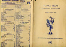 1940 Marfa Texas tx Telephone Directory Phone Book