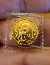 1986 Uncirculated 10 Yuan 1/10 Oz .999 Gold Panda Mint Sealed Bu