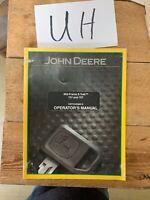 John Deere 737 & 757 Mid Frame Ztrak Mower Owner Operator Manual OMTCU20986