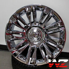 "22"" 2016 Style Wheels Chrome w Chrome Inserts Fits Cadillac Escalade EXT ESV"
